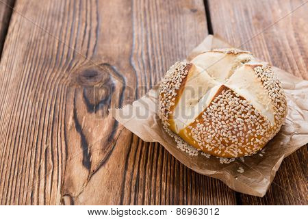 Pretzel Roll With Sesame