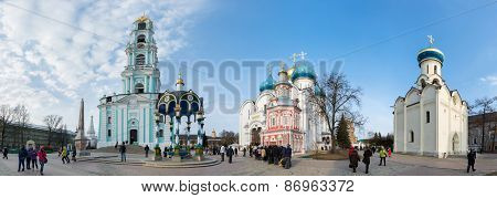 Sergiev Posad, Russia-march, 15, 2012. Monastery In A Sergiev Posad In The Moscow Region. It Was Bui