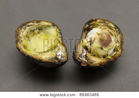 Cuted Rotten Avocados