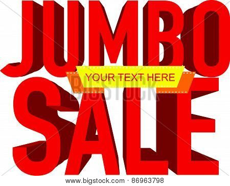 jumbo sale text with copy space, vector illustration