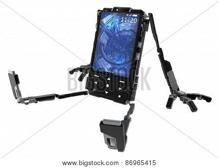 Phone Robot, Sitting