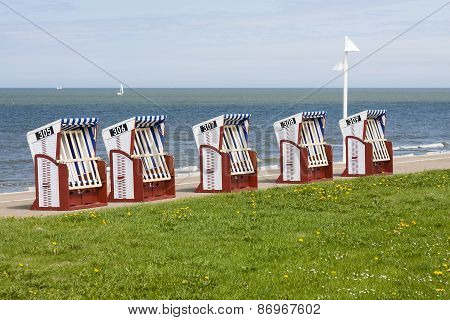 Beach Chairs By The Sea, Norderney