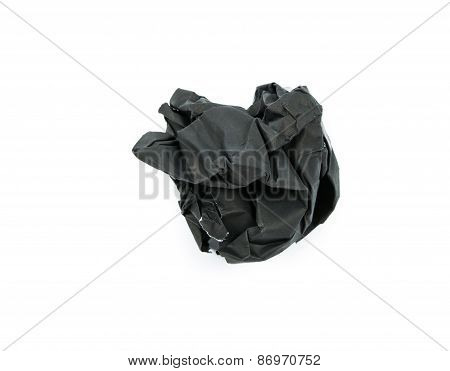 Black Paper Ball Corrugate Isolate