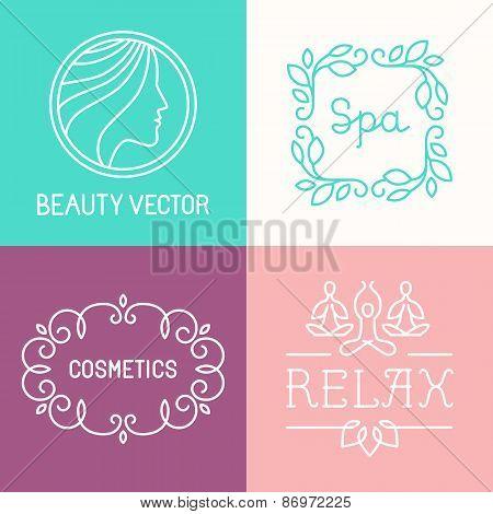 Vector Spa And Cosmetics Logos