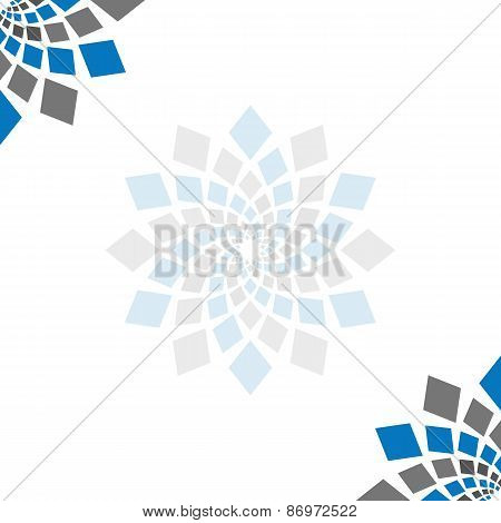Abstract Squares Circular Element Blank Square