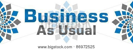 Business As Usual Blue Grey Banner