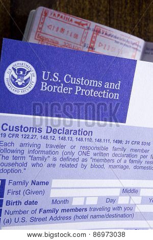 Customs Declaration And Passport