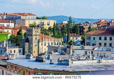 TRIESTE, ITALY - 20 JULY 2013: beautiful city view in summer
