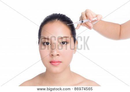 Beautiful Woman With Syringe