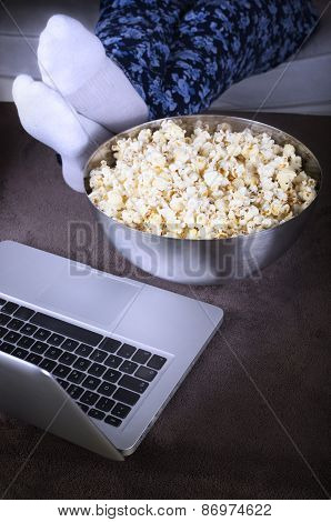 watching a movie online