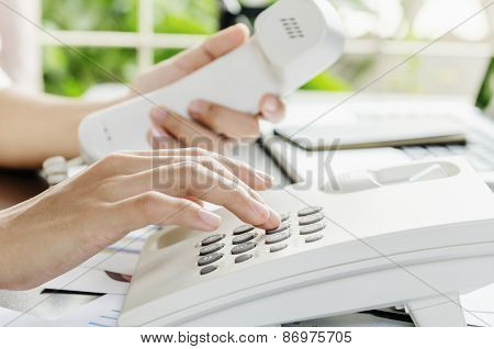 Dialling on a telephone