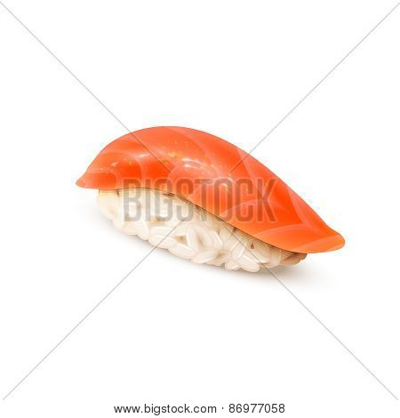 Sushi, Japanese cuisine, isolated on white.