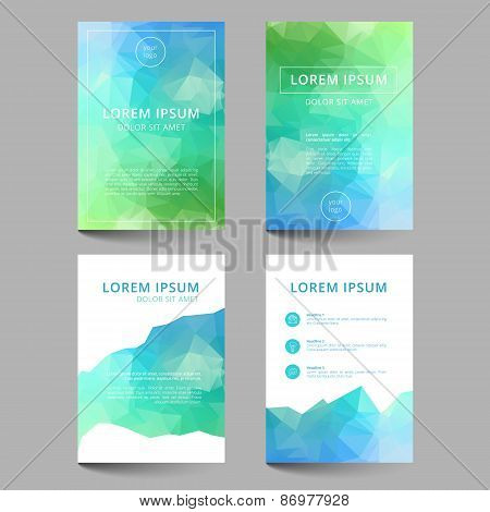 Document Template Low Poly Design