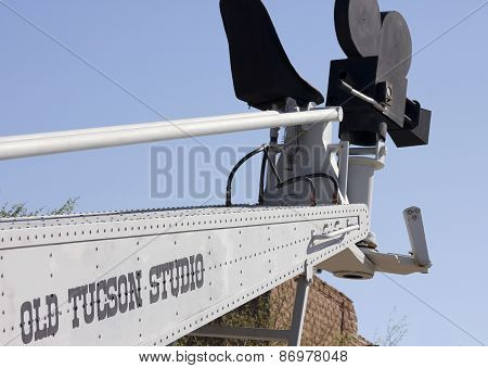 An Old Boom Lift Of Old Tucson, Tucson, Arizona