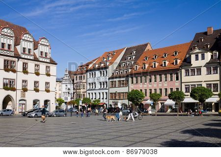 The Market Square In Naumburg; Saxony-anhalt, Germany