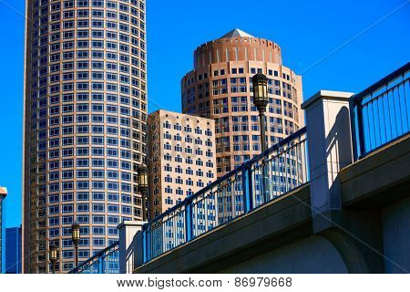 Boston Seaport boulevard bridge Massachusetts USA