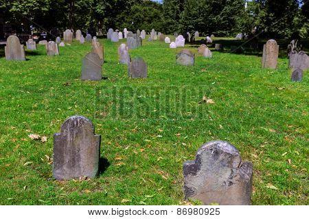 Boston Common Central Burying Ground in Massachusetts USA