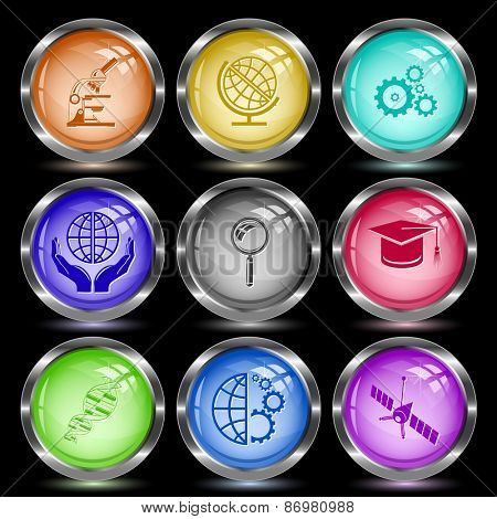 Science set. Internet button. Vector illustration.