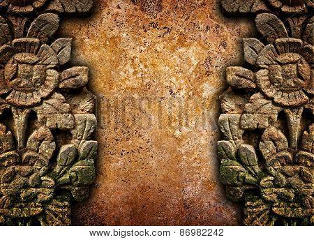 vintage stone carving background