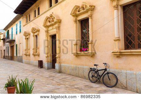 Alcudia Old Town city town hall in Majorca Mallorca Balearic island of Spain Ayuntamiento