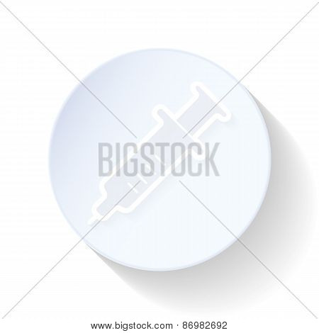 Syringe Thin Lines Icon