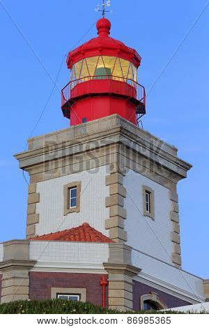 Lighthouse on cape Cabo da Roca, Portugal