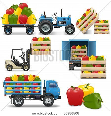 Vector Agricultural Icons Set 4