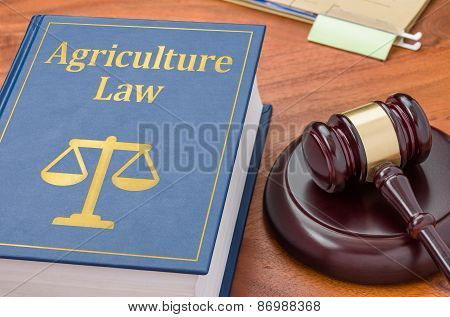 A Law Book With A Gavel - Agriculture Law