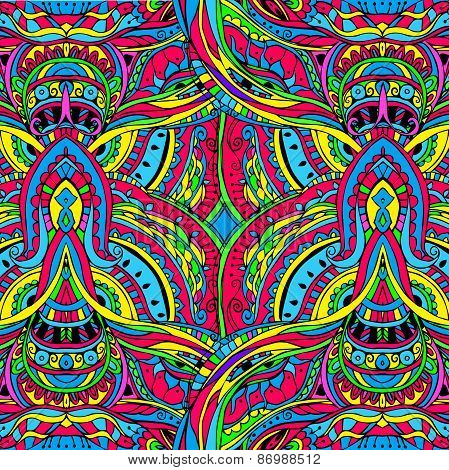 Ornament psychedelic background