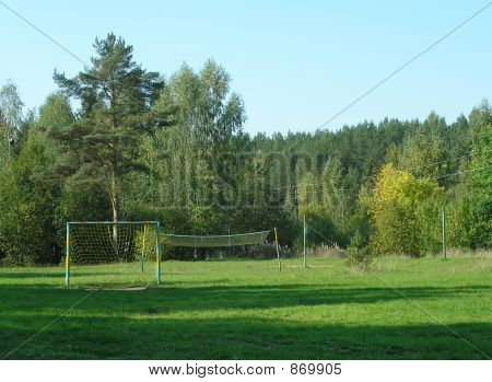 Football Ground In Forest