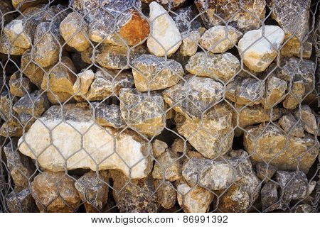 Grid With Small Stones Of Granite