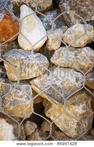 Background Of Large Stones And Grid