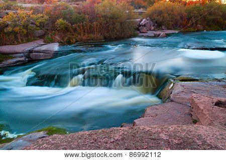 Fast River Among Stones