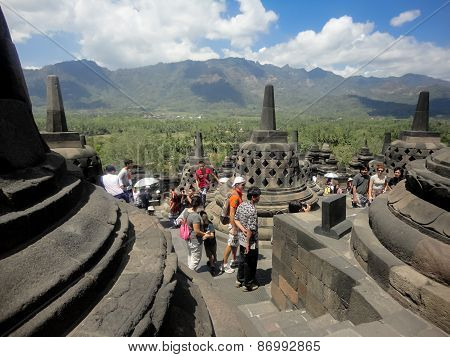 Borobudur Temple In Indonesia