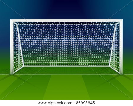 Soccer Goalpost With Net