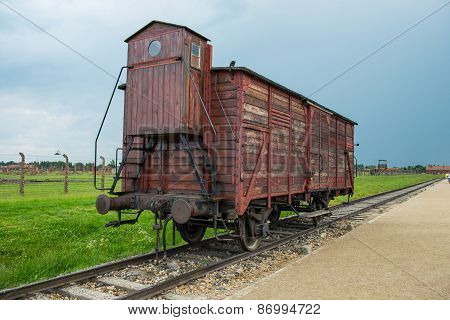 Holocaust Death Camp Cattle Car Train