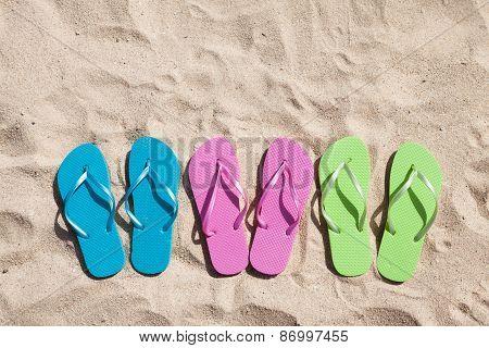 Three Pairs Of Flip-flops