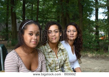Mother And Daughters Serious