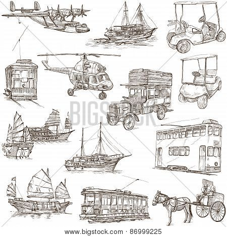Transport Pack - Freehand, Orginal Sketches
