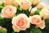 pic of orange blossom  - Yellow with orange roses - JPG