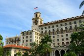 stock photo of breaker  - Breakers Hotel is a historic hotel in Palm Beach with Italian Renaissance style - JPG