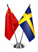 stock photo of sweden flag  - China and Sweden  - JPG