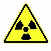 picture of nuke  - Radiation attention Sign eps 10 vector illustration - JPG