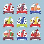 foto of fruit shake  - Fruit smoothie collection - JPG