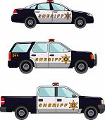 foto of armored car  - Three variants of the police car in a flat style - JPG