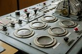 foto of nautical equipment  - Ship control bridge navigation nautical drive sea - JPG