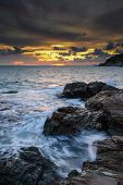 stock photo of sea-scape  - Sea scape in Rayong province of Thailand - JPG