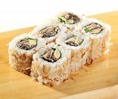 image of fish skin  - Salmon Skin Maki Sushi  - JPG