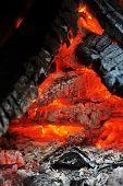 foto of ember  - Burning down fire - JPG