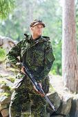 pic of army soldier  - hunting - JPG
